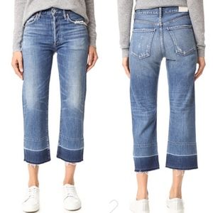 Citizens of Humanity Cora Crop Undone Hem Jeans 27